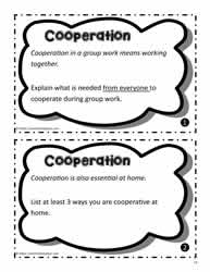 Cooperation Task Cards