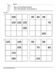 Count by 5 - Worksheet 4
