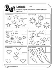 Counting Objects Worksheet 1