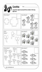Counting Objects Worksheet 3