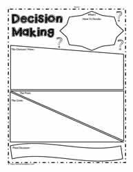 Decision Making Graphic Organizer