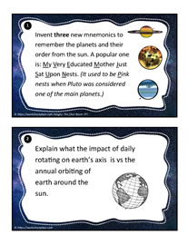 Earth and Space Task Cards 1-2