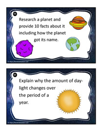 Earth and Space Task Cards 11-12