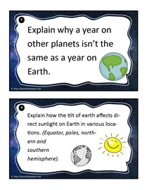 Earth and Space Task Cards 3-4