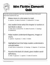 Elements of Non Fiction Quiz