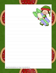 Santa Elf Writing Paper