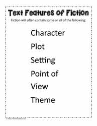 Text Features of Fiction