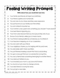 Feeling Writing Prompts