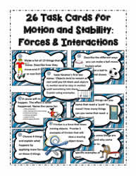 26 Motion and Stability Task Cards