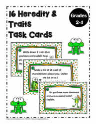 16 Task Cards for Heredity and Traits