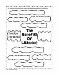 Listening Skills Worksheet