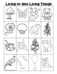 Printables Living Vs Nonliving Worksheet characteristics of living thingsworksheets or non sort