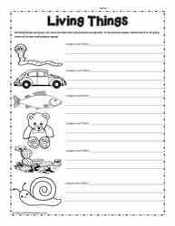 Kindergarten Worksheet. Living And Nonliving Things Worksheets ...