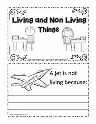 Living and non living things worksheets booklet for living and non living ccuart Images