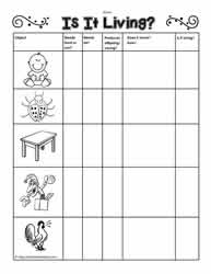 Worksheets Living Vs Nonliving Worksheet living and non things worksheetsworksheets is it living