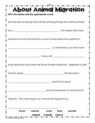 Migration Worksheet