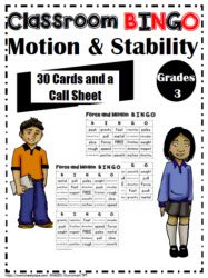 Motion and Stability BINGO