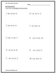 Simplifying Expressions Worksheet | Homeoutsidethebox.com