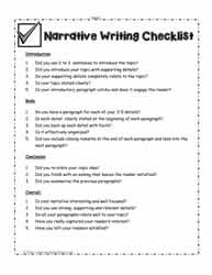 Narrative-Writing-Checklist