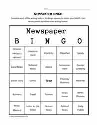 Newspaper Bingo