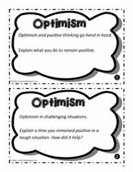 Optimism Task Cards