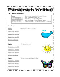 Organizer for Paragraph Writing