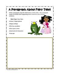how to write a paragraph worksheet