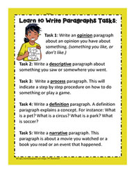 Paragraph Writing Tasks