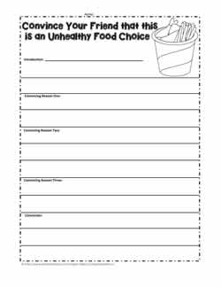 Persuasive Writing for Healthy Eating