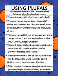 A Poster for Forming Plurals