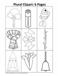 Singular and Plural Clipart Teaching Ideas