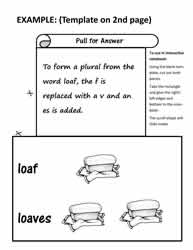Interactive Notebook Template - Plurals