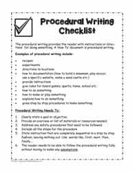 Procedural-Writing-Checklist