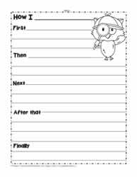 procedural writing worksheets
