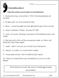 Punctuation Test 3