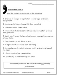 Punctuation Test 5