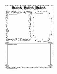 Rules Graphic Organizer