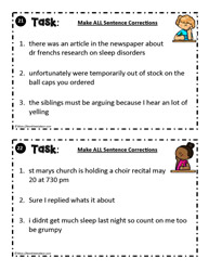 Sentence Correction Task Card 21 - 22