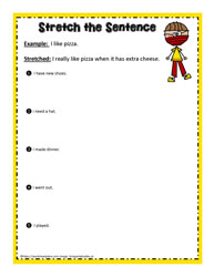 Stretch the Sentence Worksheet