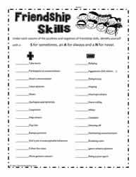 Friendship Skills Printable