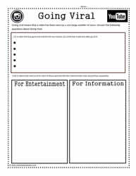 Going Viral Worksheet