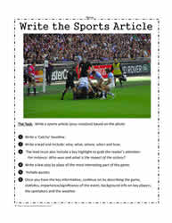 Write a Sports Article