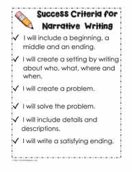Narrative Success Criteria