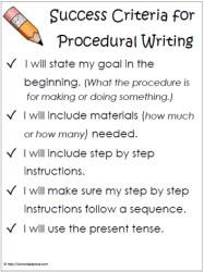ProceduralWritingWorksheets - Procedural writing template