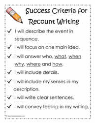 ReCount Success Criteria