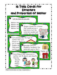 A Set of Task Cards for Properties of Matter