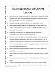 A List Of Teaching Ideas