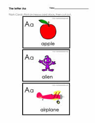 The Letter A Flashcards