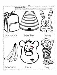 The Letter B Coloring Pictures