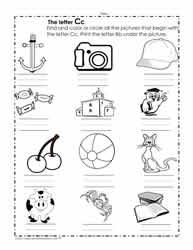 The Letter C Worksheets